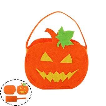 DIY Pumpkin Bag Candy Gifts Kids Halloween Storage Trick Or TreatCelebration - intl
