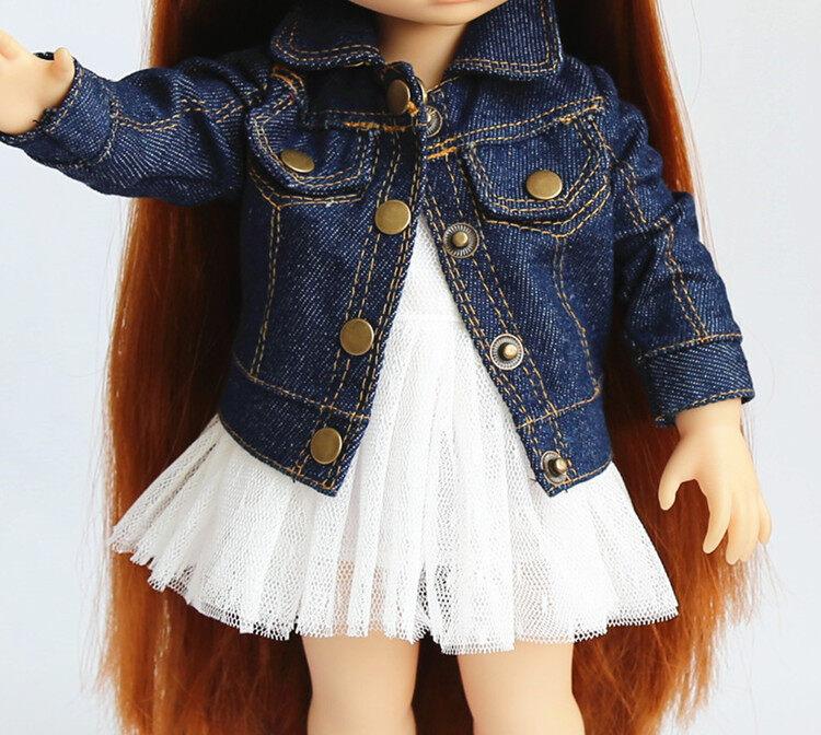 แฟชั่น doll clothing สวมใส่กระโปรงแจ็คเก็ตยีนส์