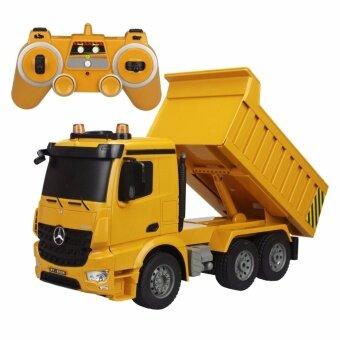 Double E ของเล่นเด็กรถดั๊มบังคับวิทยุ(คันใหญ่สมจริง) Mercedes-Benz Arocs Dump Truck 1/20 NO.E525-003