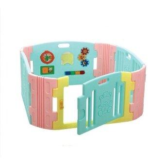 Edu Play คอกกันแผ่นกิจกรรม size S รุ่น BR-7371PG Happy baby room ( Pastel )