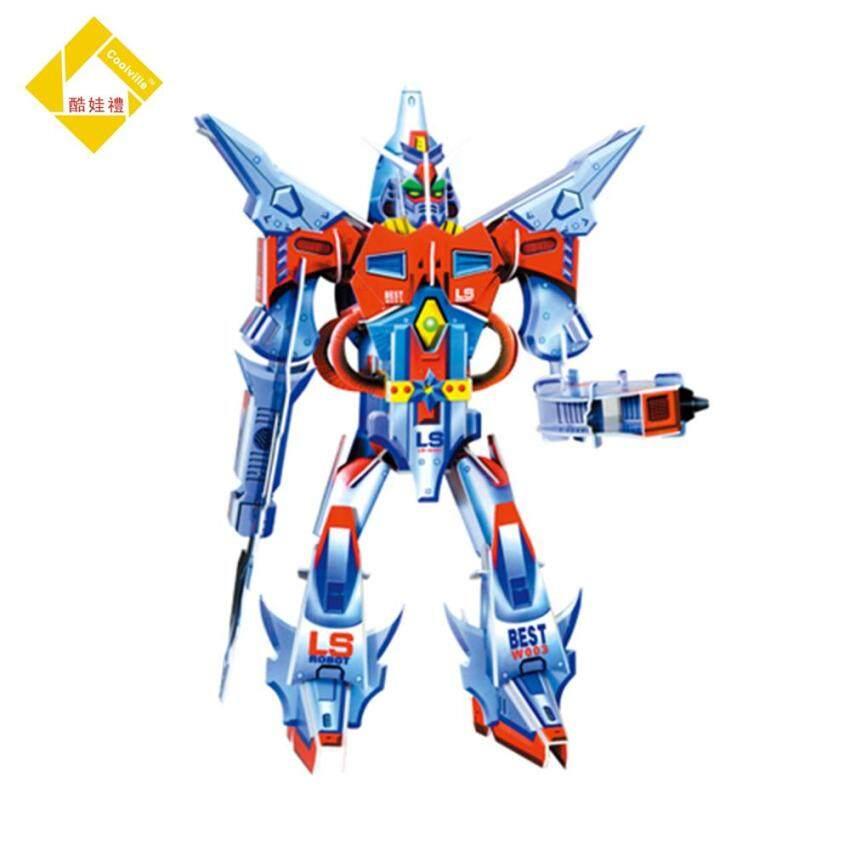 Educational 3D Model Puzzle Jigsaw GUNDAM ROBOT HERO DIY Toy 45Pcs for Kids Gift