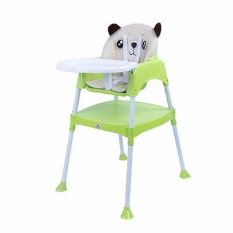 เก้าอี้ทานข้าวเด็กทรงสูงพร้อมเบาะรองนั้ง รุ่น 4in1 สีเขียว(ปรับเป็นโต๊ะพร้อมเก้าอี้ได้)