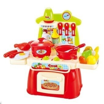 Electronic Sound and Light Simulation Kitchen Cooking toy red color - intl