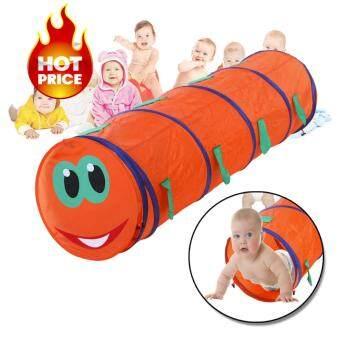 Elit อุโมงค์ตัวหนอน สำหรับเด็ก กันน้ำ Foldable Children Play Animal Tunnel Tent Kids