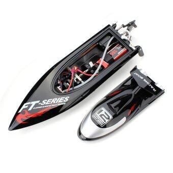 เรือบังคับ เรือบังคับวิทยุเรือบังคับไฟฟ้า Motor Brushless RC Racing Boat FT012 ระบายความร้อนด้วยน้ำ ทำความเร็วได้กว่า 45 KM/H (Black)