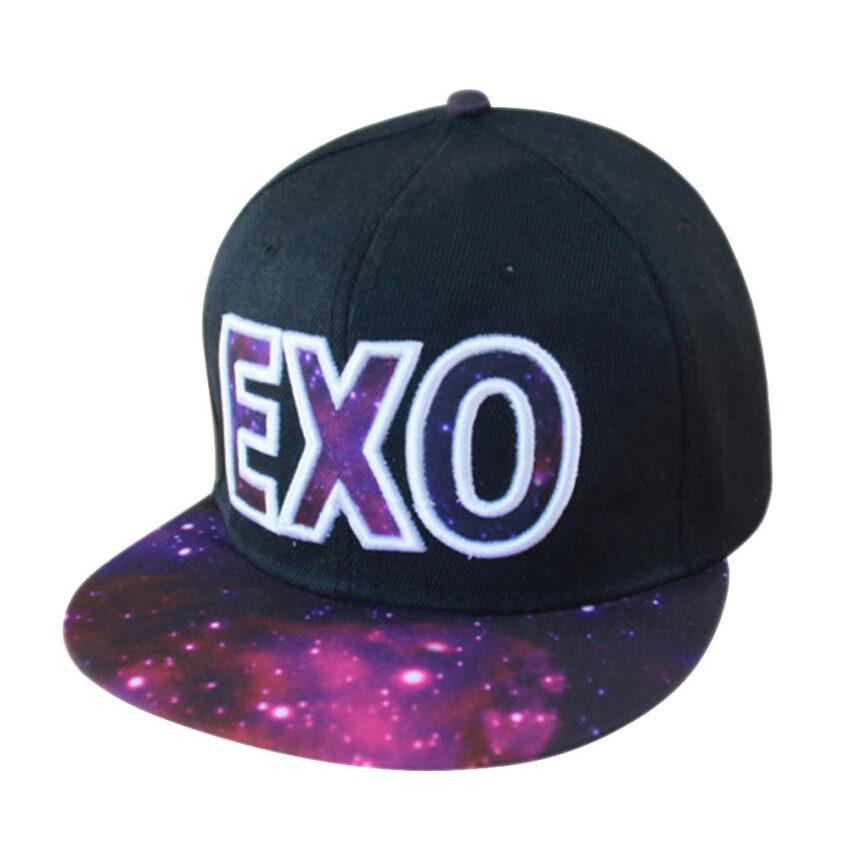 Fashion EXO Adjustable Snapback Hip-hop Baseball Cap Hat Unisex Purple