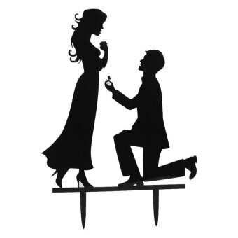 FC Acrylic Bride And Groom Wedding Love Cake Topper Party Favorsdecoration - intl