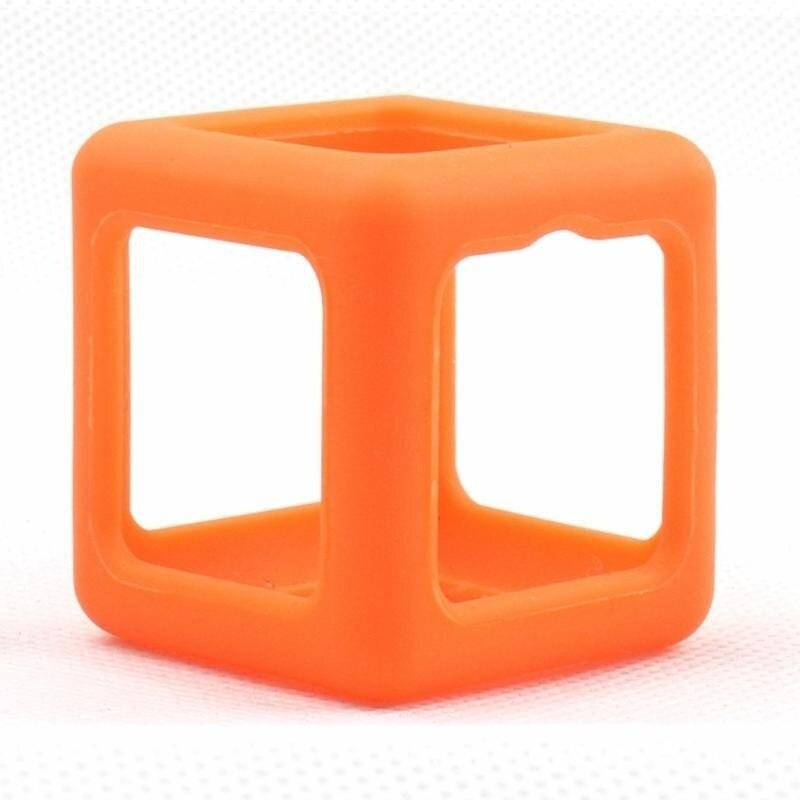 Fidget Cube Protective Cover Case Stress Relief Anti Anxiety Magic Cube Dice Toy Prismatic Shell Orange - intl