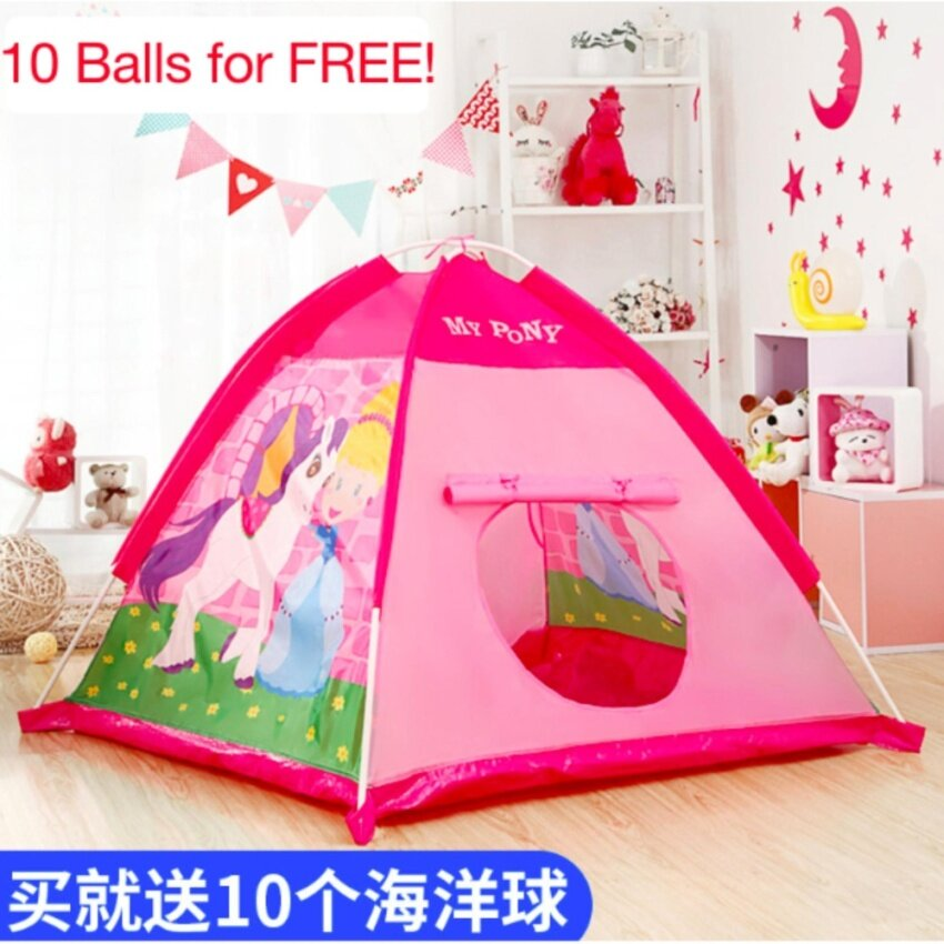 Foldable Pink Play Tent Outdoor Toys and Games Kids Playhouse Balls Pool (Pink) - intl