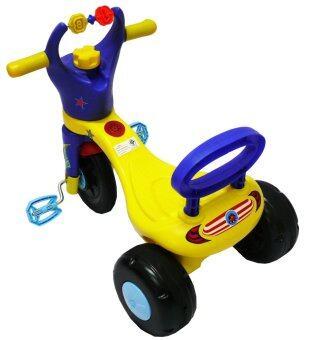 FOYTHAI รถสามล้อเด็ก ดับเบิ้ล รุ่น FRD-013 สีน้ำเงิน (image 1)