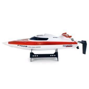 เรือสปีดโบ๊ตบังคับวิทยุ FT009 2.4GHz แบตลิเธียมไออ้อน โพลิเมอร์ ระบายความร้อนด้วยน้ำ