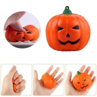 Funny Soft PU Halloween Pumpkin Squishy Toy Slow Rising RelieveGift Anti Stress - intl