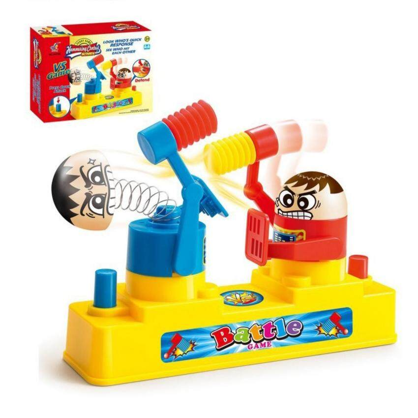 G2G เกมส์ต่อสู้ใช้ค้อนทุบหัวฝั่งตรงข้ามให้กระเด้ง Hammering Contest ของเล่นสำหรับการเรียนรู้และเสริมพัฒนาการเด็ก จำนวน 1 ชิ้น