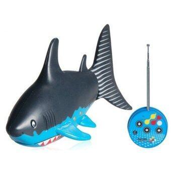 Gadget RC Fishปลาฉลาม อิเล็กทรอนิกส์บังคับวิทยุไร้สาย(สีน้ำเงิน)