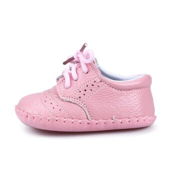 Genuine Leather Baby Boys Girls Shoes Moccasins First Walker (Pink)\n- intl