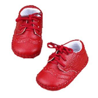 Genuine Leather Baby Boys Girls Shoes Moccasins First Walker (Red)\n- intl