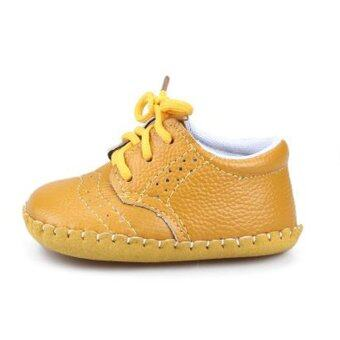 Genuine Leather Baby Boys Girls Shoes Moccasins First Walker\n(Yellow) - intl