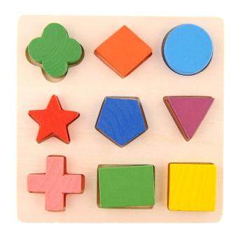 Harga Geometry Wooden Stacking Building Block Toy Montessori EducationalKids Baby