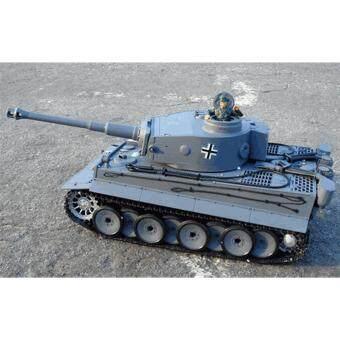 รถถังบังคับ German tiger 1:18 พร้อมควัน ยิงกระสุน