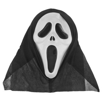 Ghost Mask For Halloween And Big Parties Black - intl
