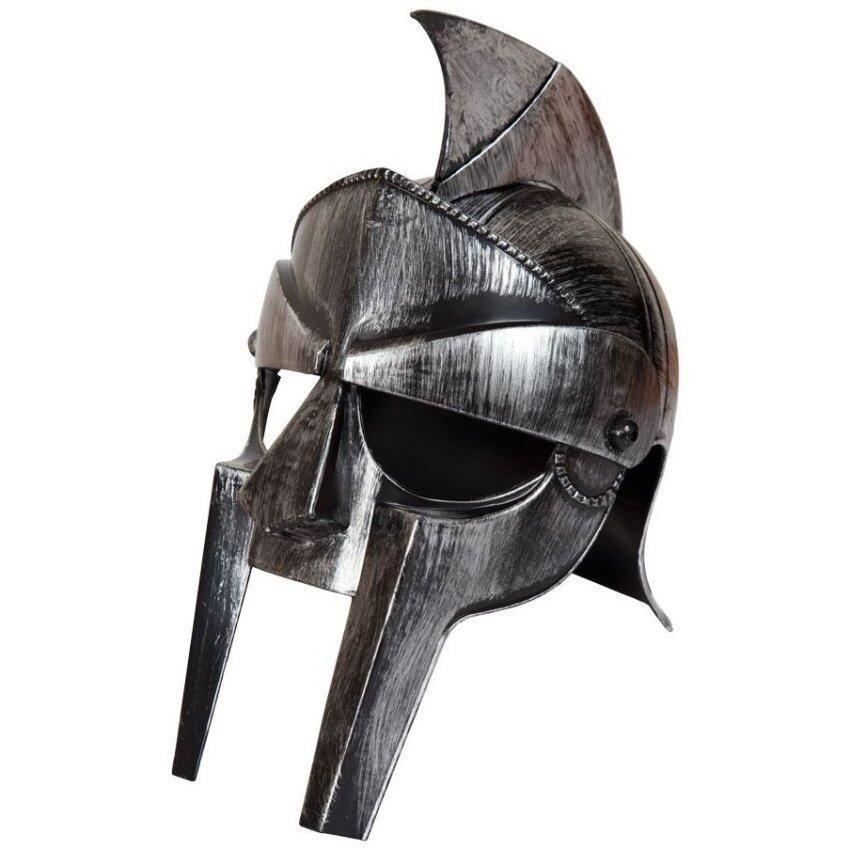 Gladiator หมวก นายพลแห่งกองทัพโรมัน แม็กซิมัส สีเงิน นักรบผู้กล้า ผ่าแผ่นดินทรราช (ทำจากวัสดุ Plastics)