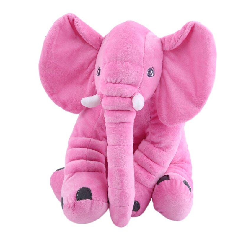 GOOD Stuffed Animal Cushion Kids Baby Sleeping Soft Pillow Toy Cute Elephant Cotton pink 28x33cm - intl