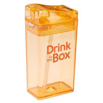 GRACE KIDS กระติกน้ำหัดดื่มสูญญากาศ Drink in the box (สีส้ม)