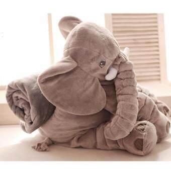 Gwiyomi ตุ๊กตาช้าง อีเกีย รุ่นมีผ้าห่ม ขนาด 60 cm (ผ้าห่ม 3 ฟุต)