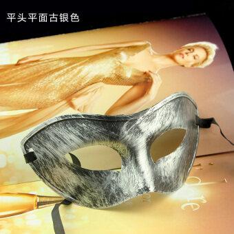 Halloween ฮาโลวีนโบราณผู้ชายหน้ากากใบหน้าครึ่งหนึ่ง