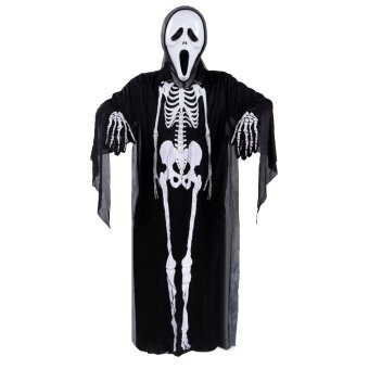 Halloween Costume Decoration Props Dress Childern Kids Skeleton Ghost Clothes Screaming Mask Cloth Gloves Masquerade Cosplay Accessories - intl