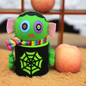 Halloween Ghost Candy Bottle Gift Box Can Bin Case Household Home House Party - intl