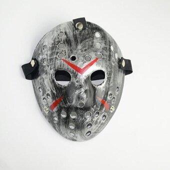 Halloween Horror Hockey Face Fancy Dress Costume Cosplay KillerMask Prop - intl