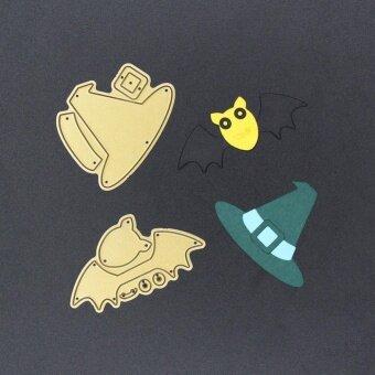 Halloween Metal DIY Witch Hat Bat Cutting Cutter Dies StencilEmbossing Card - intl