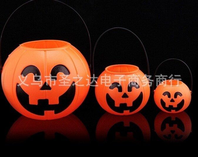 Halloween Pumpkin pumpkin pot candy bar scene decorated pumpkin bucket large medium small pumpkin bucket - intl