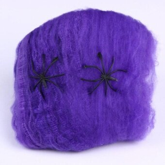 Halloween Silk Spider Gridding Cobweb Prop Party Supplies DecorScary Horror - intl