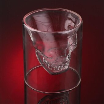 Halloween Skull Cup Wine Head Glass Whisky Party Drinkware FourSizes - intl