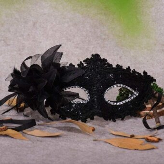 Halloween Sparkling Lace Eye Mask Masquerade Dance Ball Dress upLadies Mask - intl