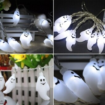 Halloween you must have it 1.5M Ghost Light String HalloweenFestival Party Decoration Props USB Charging - intl