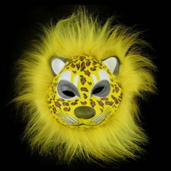 Halloween you must have it EVA Mask Plush Animal Helloween DecorProps 7 Type Prank Rabbit Wolf Leopard - intl