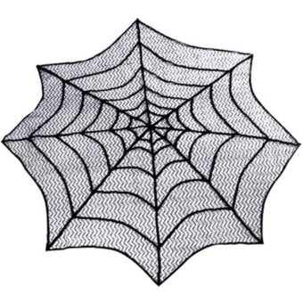 Halloween you must have it Halloween Star Round Web TableclothFireplace Table Decor Topper Covers Party - intl
