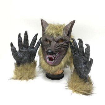 Halloween you must have it Wolf Devil Masks High-Grade Simulation Halloween Gloves/Headgear Horror - intl