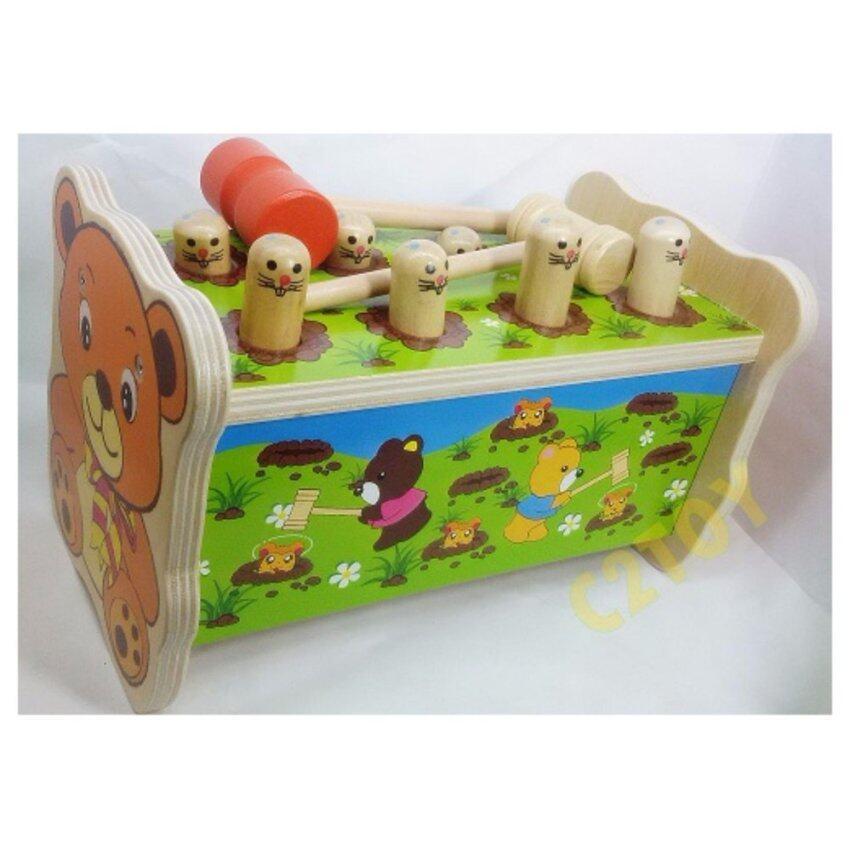 ทุบหนู hamster 8 หัว-C2TOY(สีไม้ลายการ์ตูน)