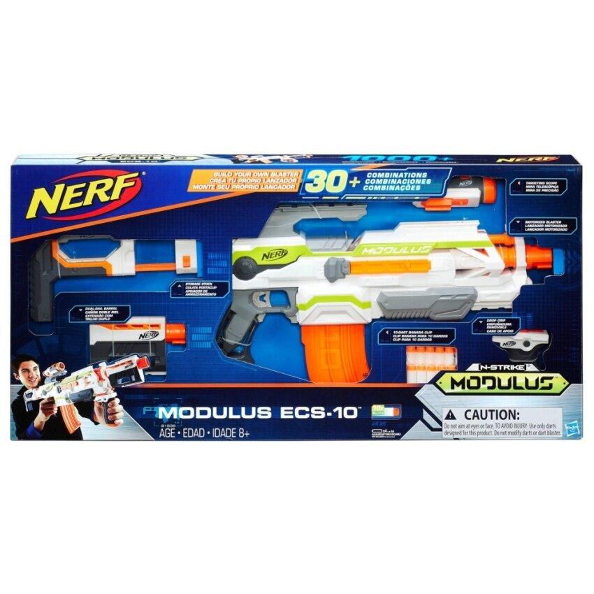 HASBRO NERF MODULUS ECS-10 BLASTER ฮาสโบร ปืนเนิร์ฟ โมดูลัส บลาสเตอร์ ปืนประกอบ ลิขสิทธิ์แท้