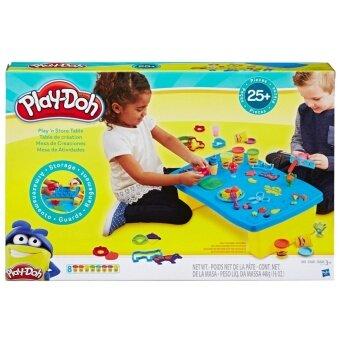 HASBRO PLAY DOH PLAY N STORE TABLE ฮาสโบร เพลย์โดว์ ชุดแป้งโดว์ เสริมทักษะ แป้งปั้นเพลย์โดว์ ชุดโต๊ะเด็กเล่น เพลย์ แอนด์ สโตร์ เทเบิ้ล ลิขสิทธิ์แท้