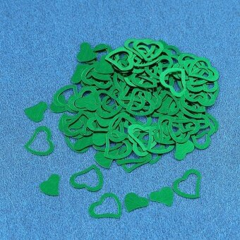 Heart-shaped Confetti Wedding Throwing Props Wedding Decorations -Green - intl