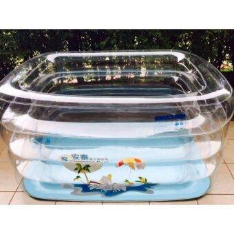 สระน้ำทรงสูงแบบใส Hello Baby Pool
