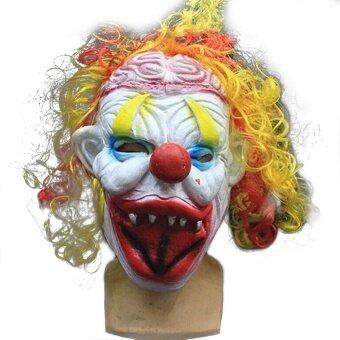 Holloween Clown Circus Adult Costume Face Dress Halloween CosplayCarnival Fancy Mask - intl