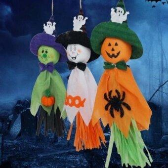 Holloween Cute Ghost Halloween House Party Hanging GarlandDecoration Kids Joking Doll - intl