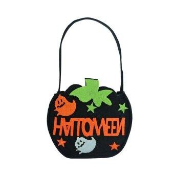 Holloween DIY Pumpkin Bag Candy Kids Halloween Storage Trick OrTreat Celebration - intl