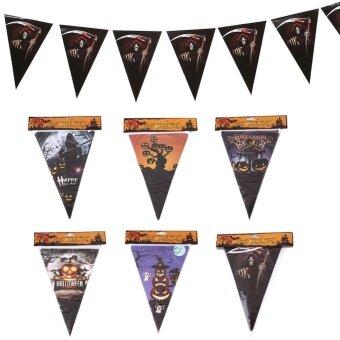 Holloween Halloween Triangle Banners Flag Spooky Pennant Party Bar Festival Decor 2M - intl